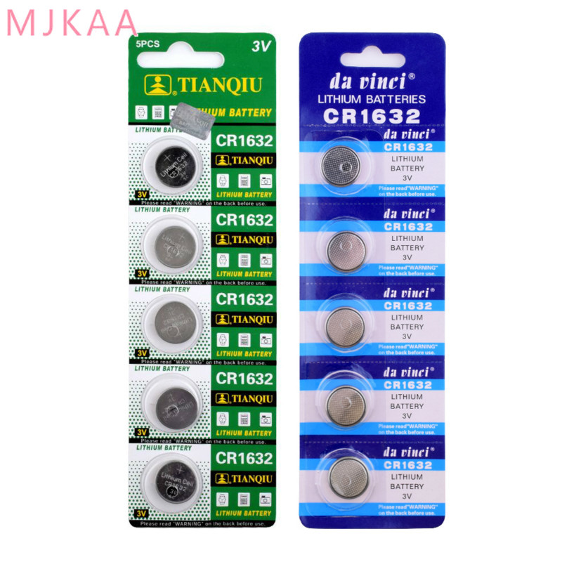 10pcs pack CR1632 Button Batteries LM1632 BR1632 ECR1632 Cell Coin Lithium Battery 3V CR 1632 For Watch Electronic Toy Remote in Button Cell Batteries from Consumer Electronics