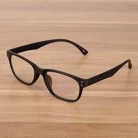Korean Fashion Eyeglasses Optical Frames Clear Lens Fake Glasses Imitative Wooden Vintage Eyewear Spectacle Frames For