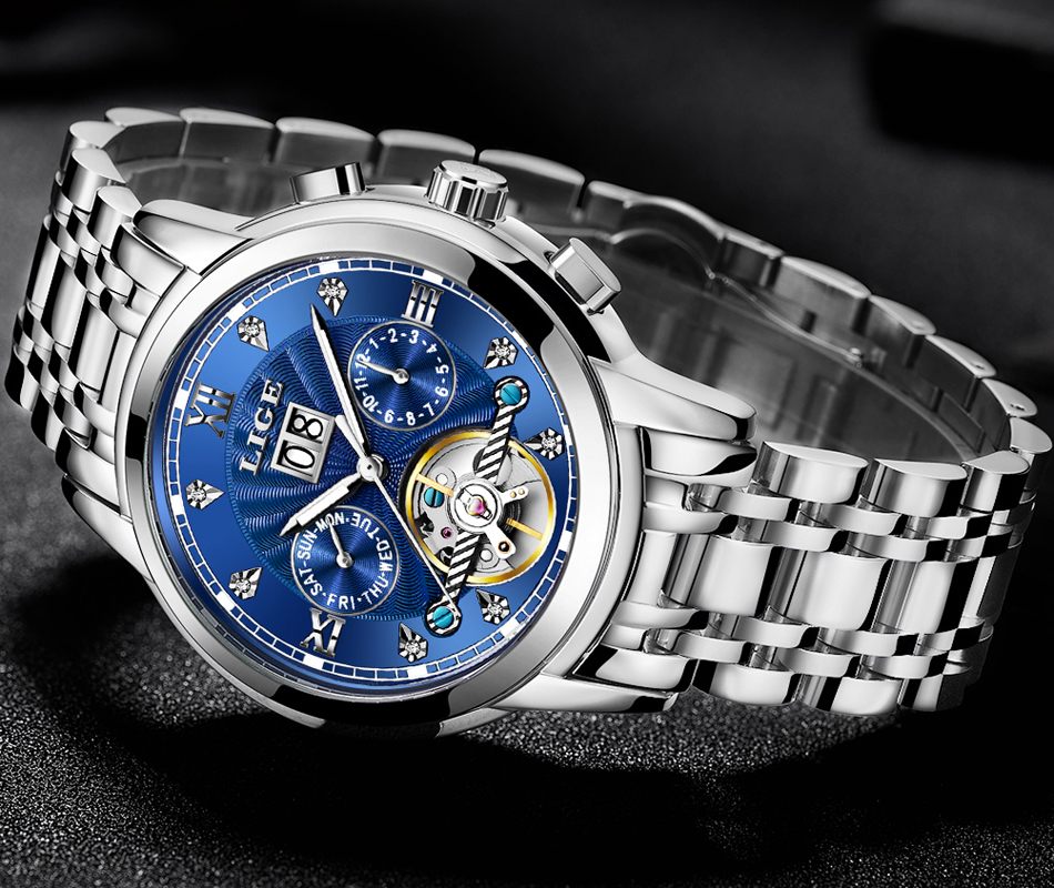HTB11G4qaifrK1RjSspbq6A4pFXaV New LIGE Men Watches Male Top Brand Luxury Automatic Mechanical Watch Men Waterproof Full Steel Business Watch Relogio Masculino