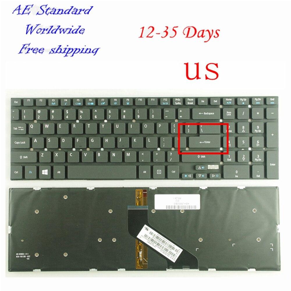 RU Black New Russian Laptop Keyboard For Acer For Aspire E1 530 E1 530G E1 572 E1 731 V3 7710 V3 7710G V3 772G Backlight