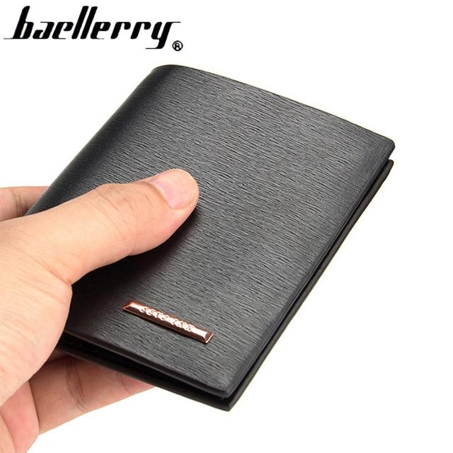 85183fcad Homens carteira de couro Fino dos homens carteiras homem de qualidade  superior bolsa carteira masculina titular