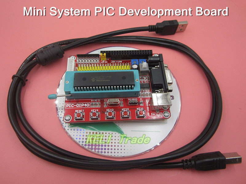 2set/sets Mini System PIC Development Board + Microchip PIC16F877 PIC16F877A+ USB Cable msp430 development board microchip msp430f149 program breadboard