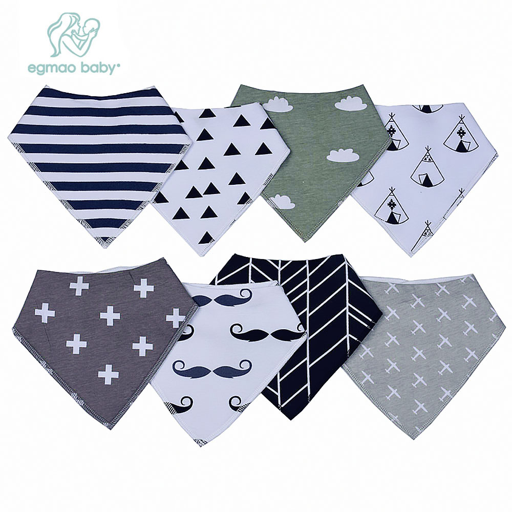 Baby Bandana Drool Bibs with Snaps, 8-Pack Organic Absorbent Drooling & Teething Bib Set, Unisex Baby Bibs Best Baby Shower Gift цены онлайн