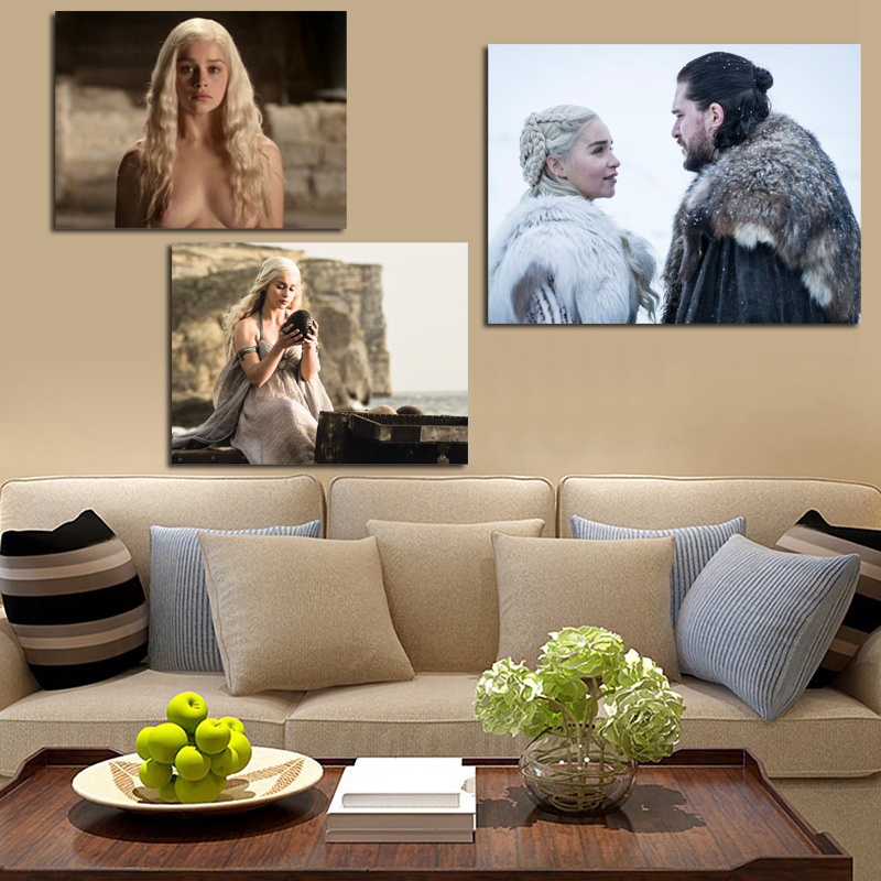 Jon Snow And Daenerys Game Of Thrones Canvas Posters Prints Painting Wall HD Picture For Bedroom Living Room Home Decor Artwork