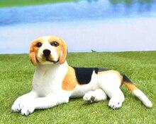 Children'S Toys Gift Simulation Prone Beagles Dog Stuffed Animal Doll 60cm Plush Toy