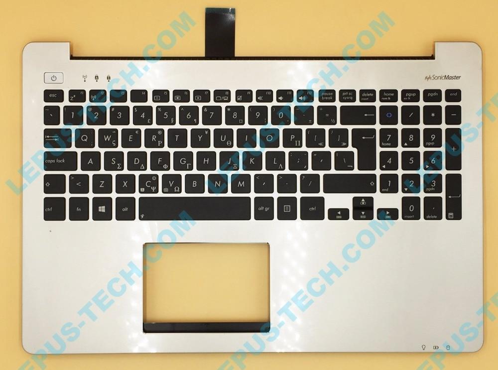все цены на GK Greek UK Keyboard For ASUS S551 K551 S551L R553L S551LN V551 K551L Top Cover Upper Case Palmrest 90NB02A0-R30100 Silver