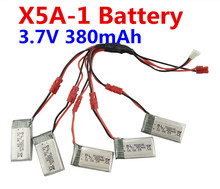 BLL new SYMA X5A-1 Quadcopter RC Helicopter Accessories 5PCS 3.7V 380mah lithium battery and 1 Torr 5 Conversion Kit line