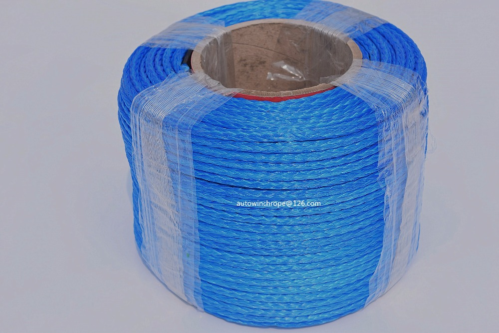Blue 6mm*100m 12 Strand Synthetic Winch Rope,ATV Winch Line,12 Plait UHMWPE Rope,Off Road Rope-in Towing Ropes from Automobiles & Motorcycles
