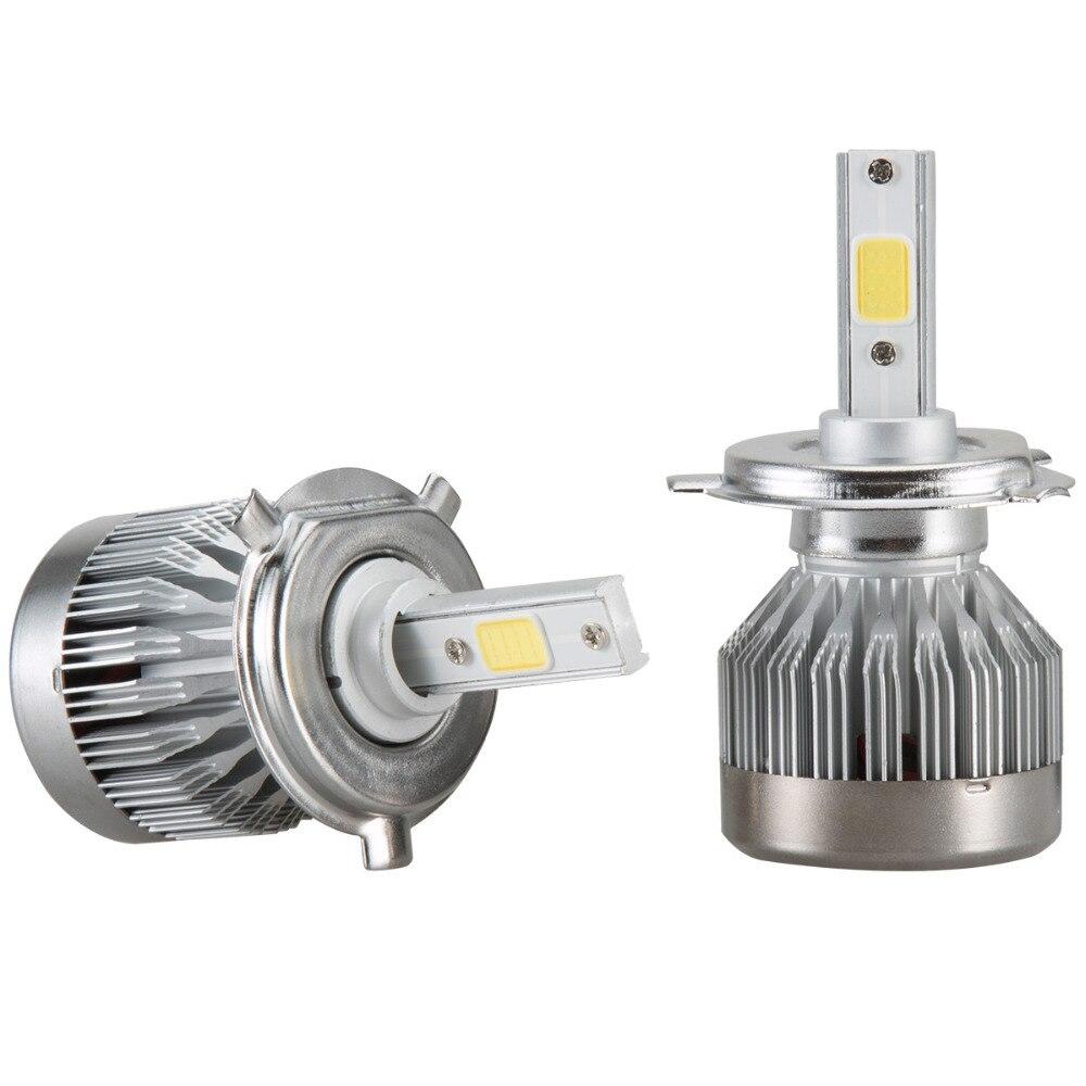 Car Led Light 2x H4 LED Light Headlight Vehicle Car Hi/Lo Beam Bulb Kit 6000k 60W 6000LM White MAY10