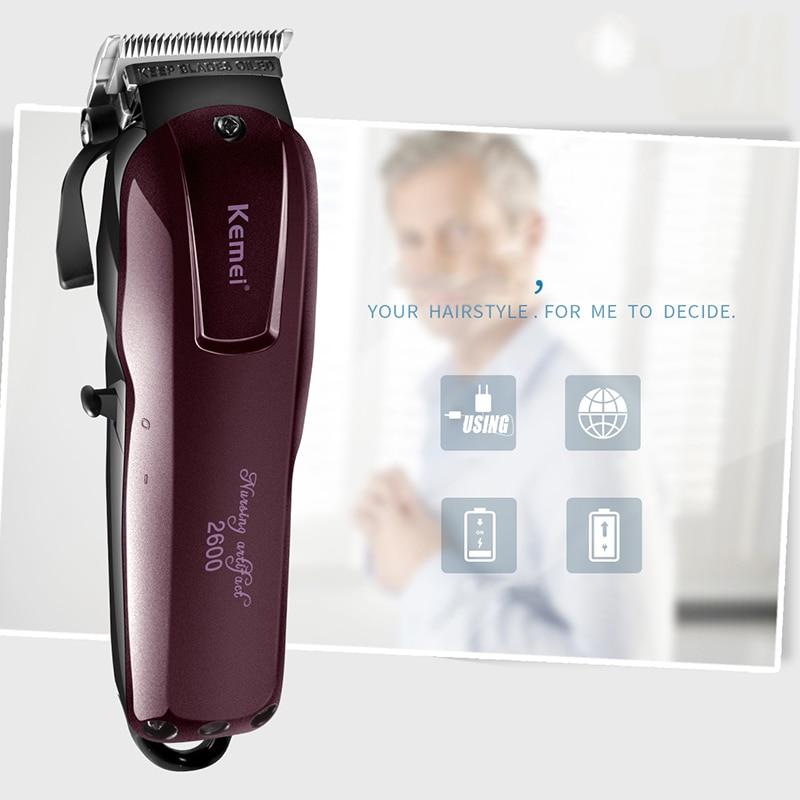 Cabeça da Faca Máquina de Cortar Aparador de Carregamento Máquina de Corte Cabelo para Corte Trimer à Prova Novo Inoxidável Cabelo Barba Dwaterproof Água Aço