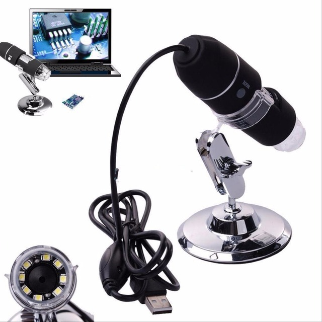50x to 500x Protable Digital USB Microscope 2MP 8 LED Tripod Base Mini Camcorder LED Children for mac Electronic Window System