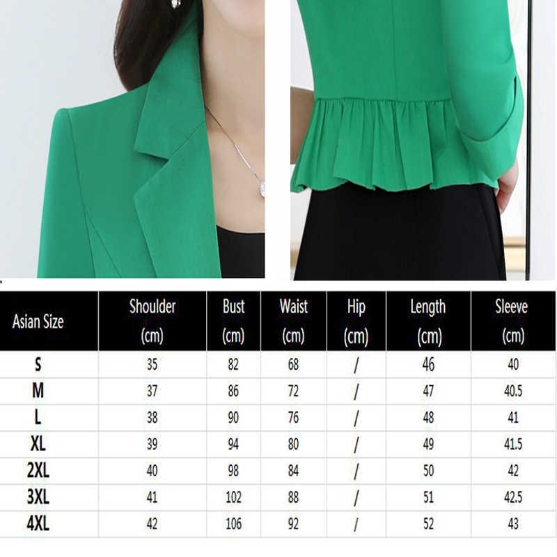 Thời Trang Mùa Xuân Nữ Slim Blazer Casaco Feminino Áo Khoác Áo Khoác Nữ Công Sở Nữ 2020 Khoác Ngắn Áo Khoác Ngoài Okb861