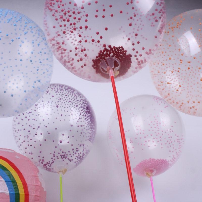 20pcs 12inch 22g transparent bubble Latex Color