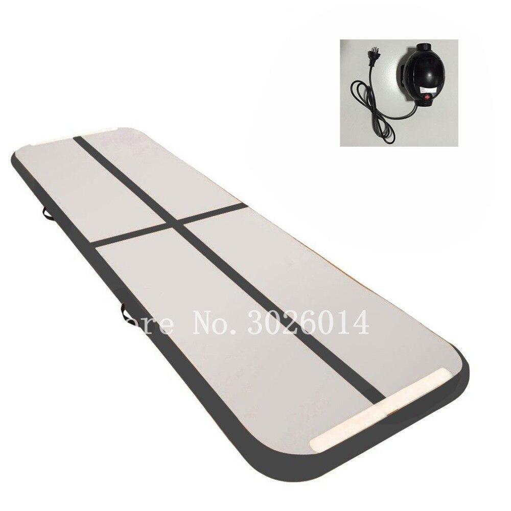 Tapis gonflable d'air de gymnastique de tapis de culbutage d'airtrack avec la pompe pour le Cheerleading/gymnastique/maison/Yoga/formation