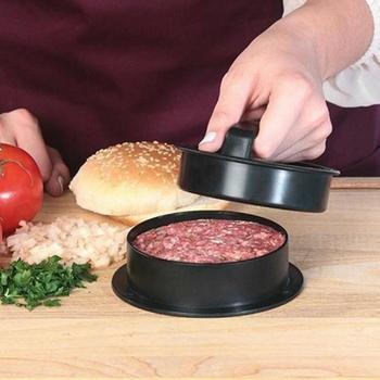 Acero inoxidable hamburguesa prensa 12,5 cm antiadherente Chef ...