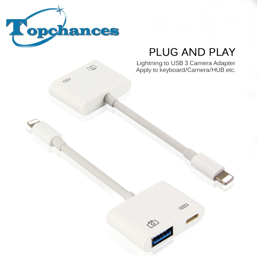 купить High Quality New For Lightning to USB 3 Camera Reader Adapter Data Sync Charge Cable For iPhone 8 7 7 Plus 6 6S For iPad Series недорого