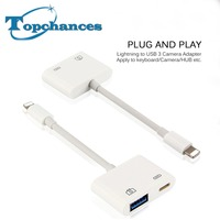 High Quality New For Lightning To USB 3 Camera Reader Adapter Data Sync Charge Cable For