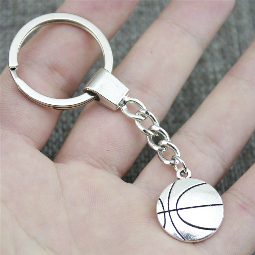 WYSIWYG 22x18mm Basketball KeyChain, New Fashion Handmade Metal Keychain Party Gift Dropship Jewellery