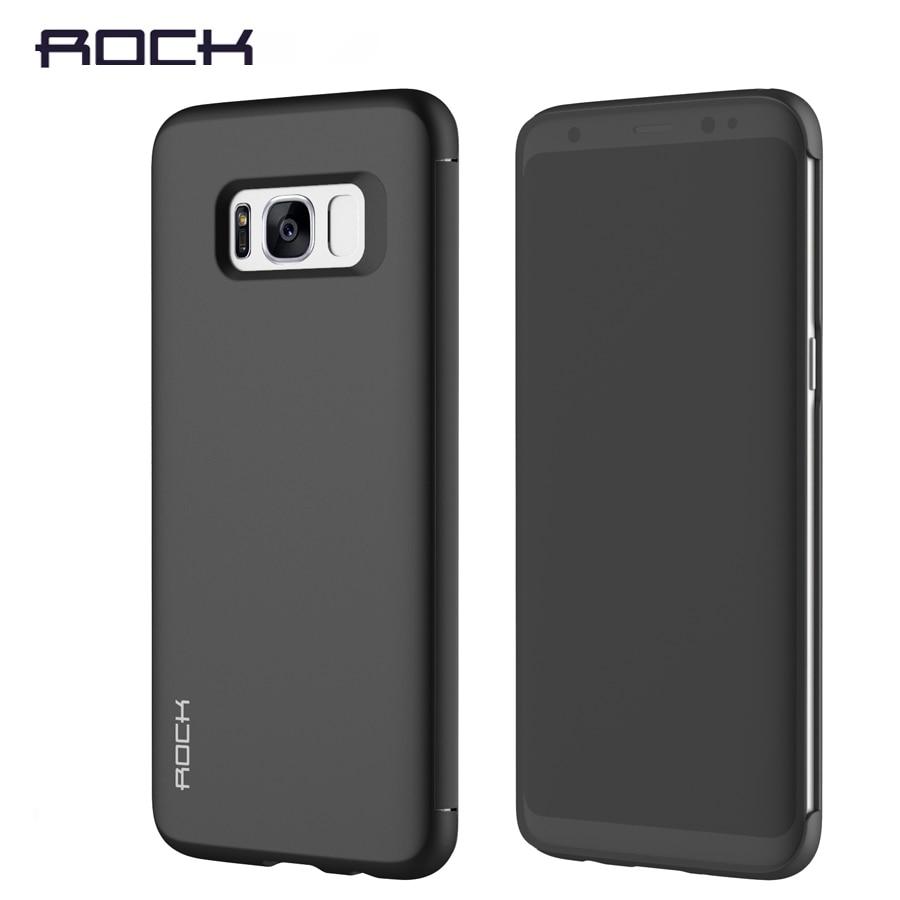 imágenes para Para Samsung Galaxy S8 S8 Más Rock pu caso Dr. V invisible ventana de lujo Funda protectora inteligente para galaxy s8 + Free gratis