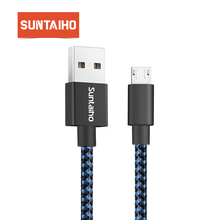 USB Micro USB Charging Cable for Samsung S7 usb cable Suntaiho 2.4A Nylon Braid Micro USB Cable Data Charger for Huawei Mei zu