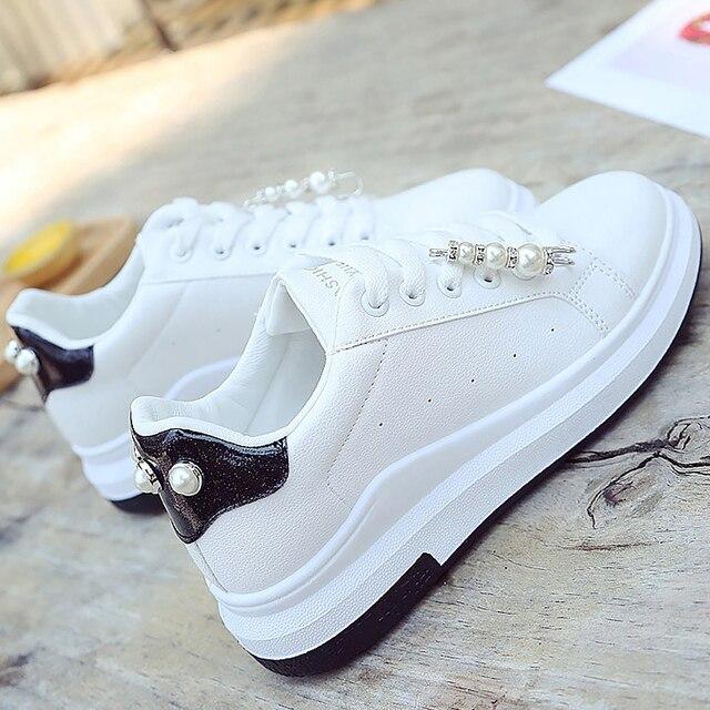 women shoes wedges sneakers 2019 new fashion string bead ladies shoes woman  white sneaker designer wedge shoe tenis feminino