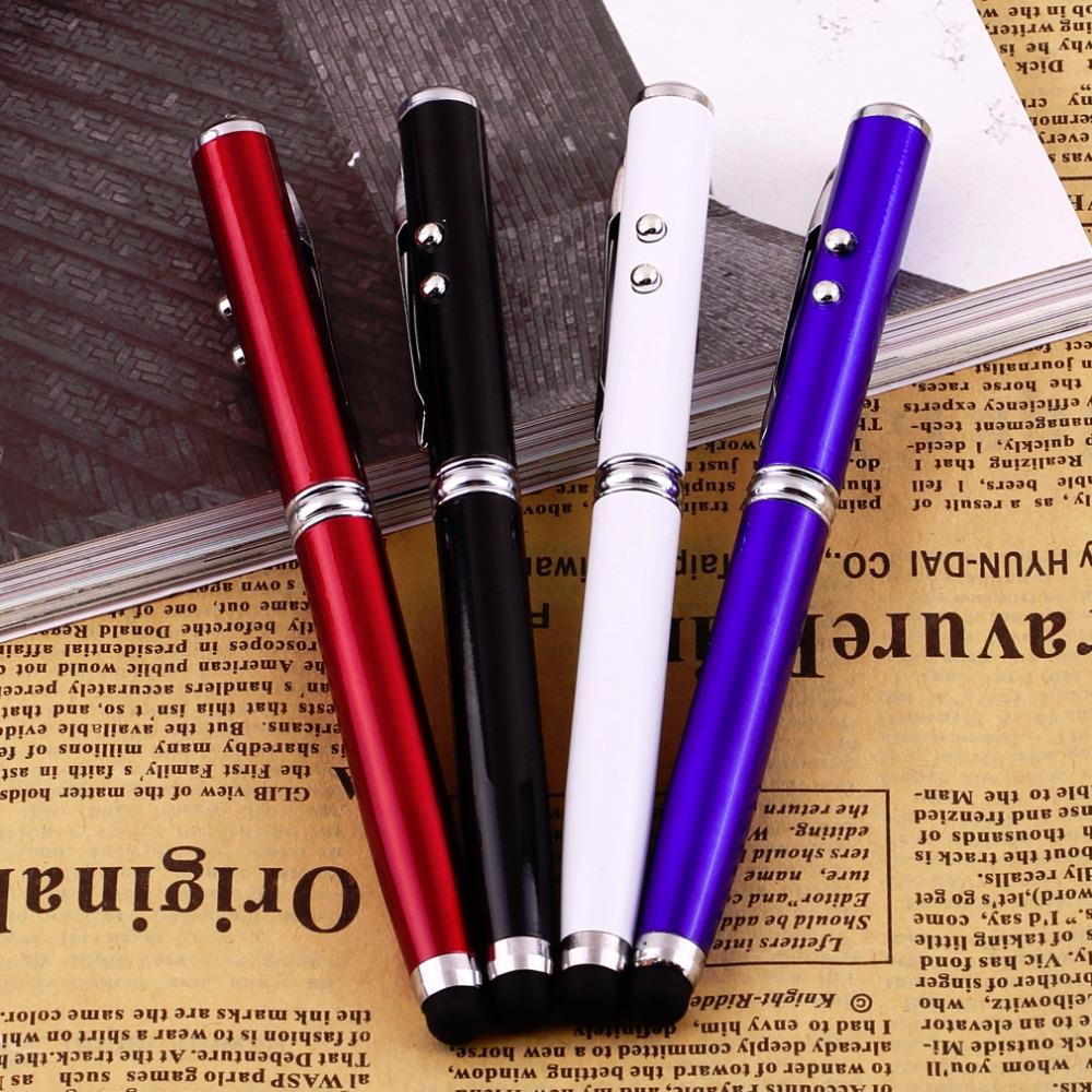 4 in 1 Laser Pointer LED Torch Touch Screen Stylus Ball Pen for iPhone Brand Wholesale