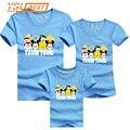 Family Look TSUM Imprimir Madre Padre Familia Ropa Nueva 2017 de Verano Niños del bebé Camisetas Madre Hijo Equipos Hombres camiseta de Las Mujeres