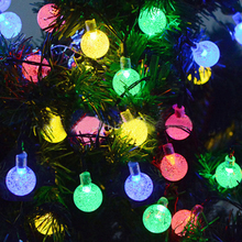 Holiday Light 30 LEDS 6M Crystal ball Solar Lamp Power LED String Fairy Lights Solar Garlands Garden Christmas Decor For Outdoor 10 led solar power lantern shaped string light fairy xmas garden lamp for outdoor holiday decoration