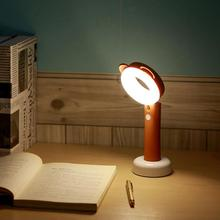 Mini cute Desk Lamp LED Light with Message Board Touch Switch Best Gift for Students Kids Rechargeable