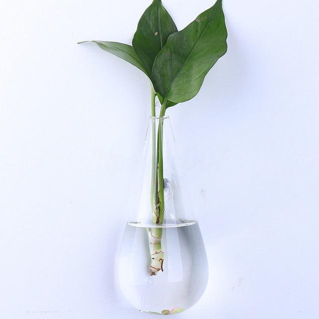 Irregular Wall Hanging Glass Planter Air Plant Terrarium Flower Pots Vase Garden Transparent Hanging Hydroponic Vase Drop Shape