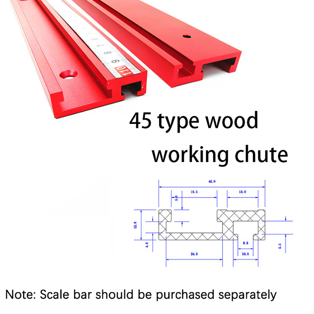 1000mm Woodworking Height Miter Track T-track Stop Sliding Brackets T-Slot Aluminium Profile Workbench DIY Accessories