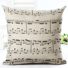 Music Note Cushion Cover Pillow Case