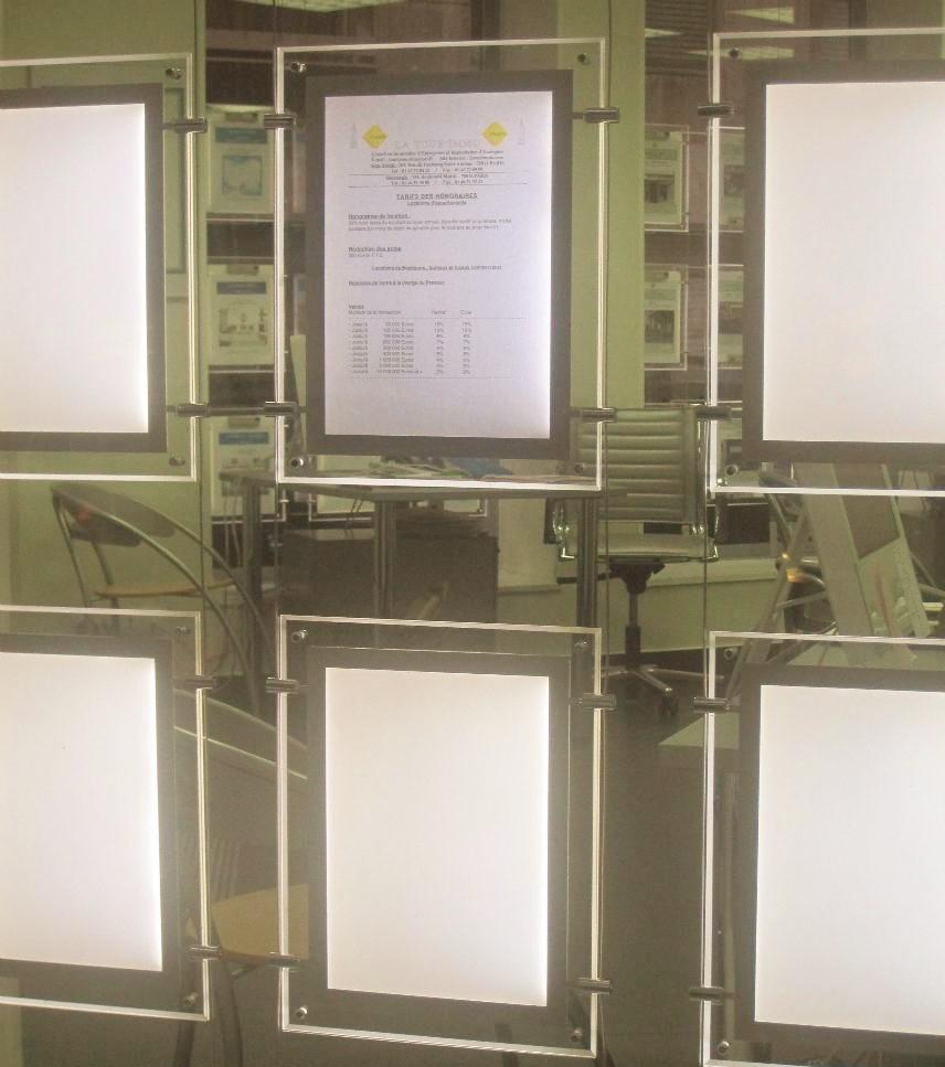 30 STÜCKE Vertikale A4 Immobilienmakler Fenster Display LED ...