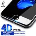 DER-LANS защитные пленки для iPhone 7 стеклянной пленки 9 H ультра тонкий 4D защита для iPhone 7 plus Полное покрытие стекла для iphone7