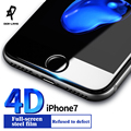 DER-LANS screen protectors for iPhone 7 glass film 9H ultra thin 4D protection for iPhone 7 plus Full cover glass for iphone7