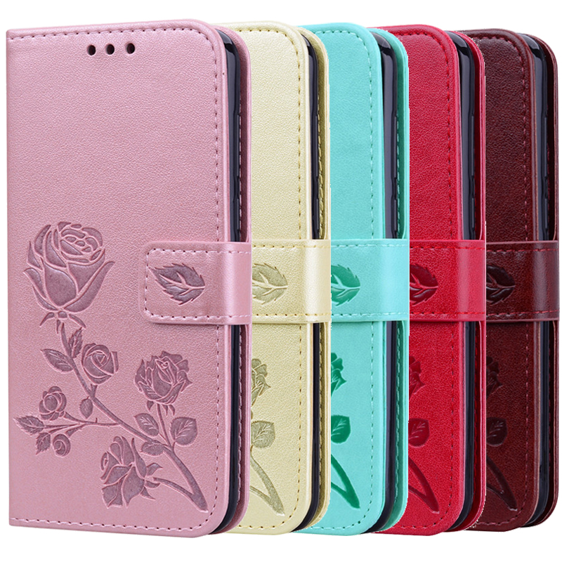 3D Embossing Flip Leather Case For Samsung Galaxy A20E A50 A30 A10 A20 A60 A40 A70 S10 S10E A9 A6 Plus A7 2018 A3 A5 2017 Coque