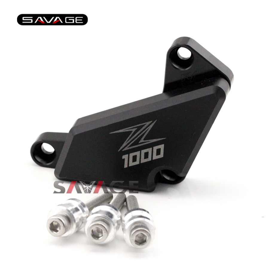 For KAWASAKI Z1000 2010 2011 2012 2013 2014 2015 Motorcycle Right Engine Case Guard Cover Frame Slider Crash Protector Black motorcycle radiator grill grille guard screen cover protector tank water black for bmw f800r 2009 2010 2011 2012 2013 2014