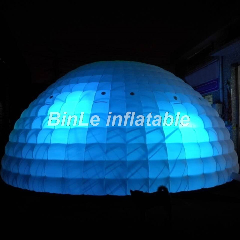 Купить с кэшбэком Top quality outdoor giant inflatable dome tent with LED large inflatable party tent wedding marquee wider entrance