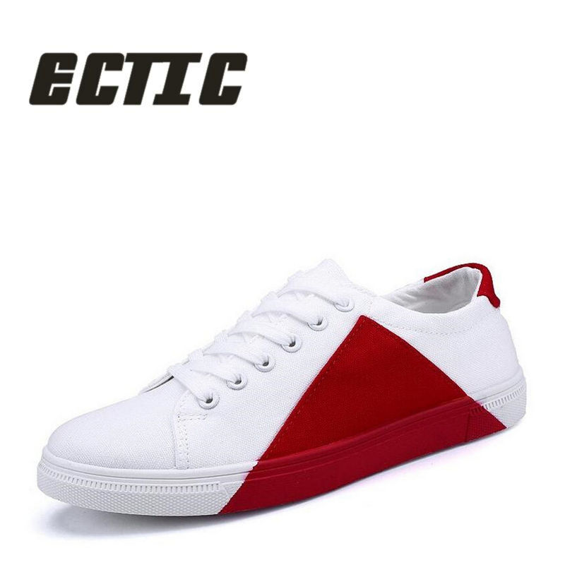 ECTIC New 2018 scarpe casual per adulti giovani patchwork Lace Up - Scarpe da uomo