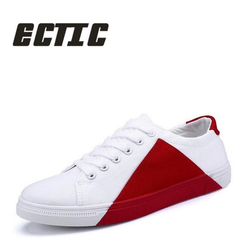 ECTIC Ny 2018 ung voksen casual sko lappeteppe Lace Up Menns sneaker - Herresko