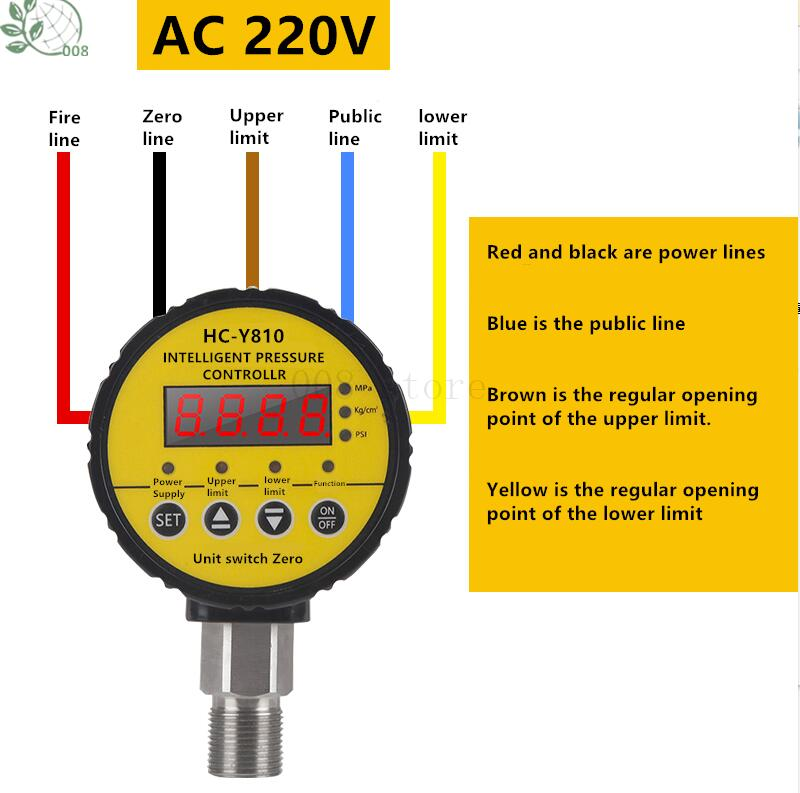 Meter Gauge Resistant Assisted Controller Pressure 0 Magnetically Digital Contact Vacuum 6 6 Shock Water 1 MPa 40 0