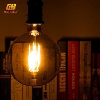 Bombillas Edison Vintage bombilla de filamento LED E27 4W 220V 240V G150 Retro ampolla incandescente bombilla Edison lámpara para lámpara colgante