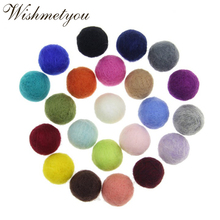 WISHMETYOU 5Pcs 20mm Wool Felt Balls For Decoration Room Diy Crafts Supplies Round Pom Poms Party Accessories