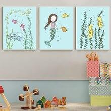 Постеры с изображением русалки под водой искусство Детская фотография