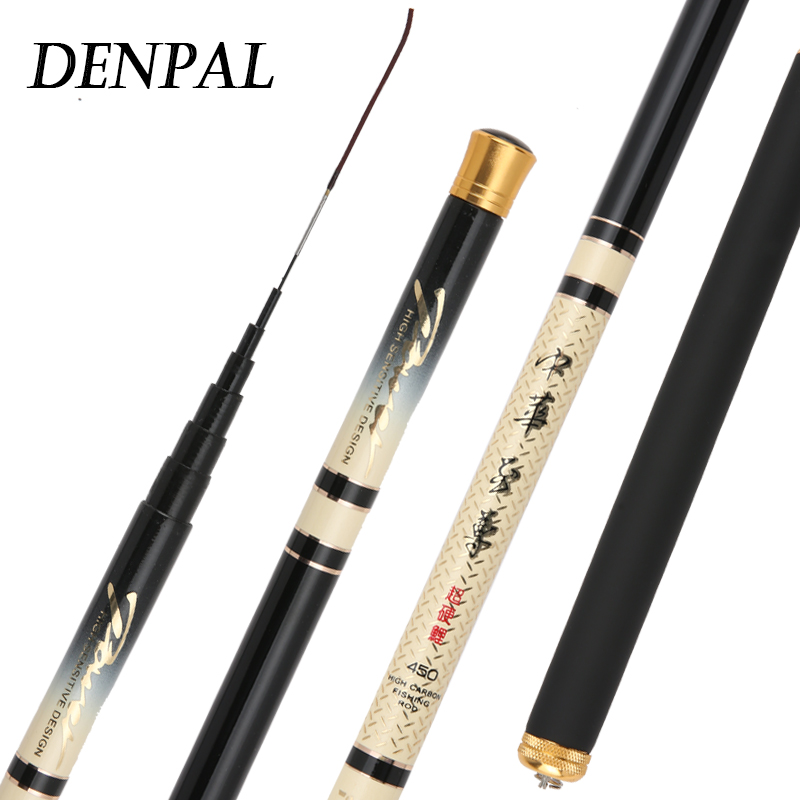 High-quality Fishing Rod 3.9/4.5/4.8/5.4/6.3/7.2M Carbon Fiber Hand Pole New High Stream Super Light Hard