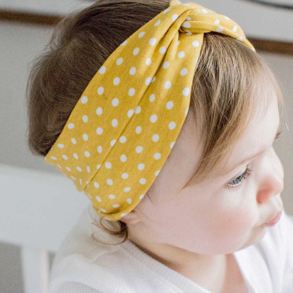 ac601950d Diademas elásticas para el cabello para niñas y bebés, diademas con patrón  de puntos,