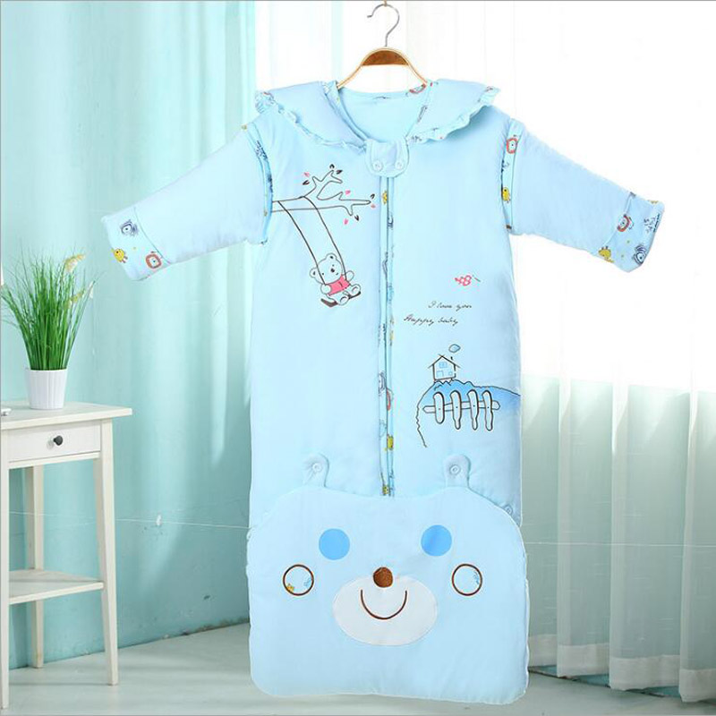 Meisiney childern blanket sleepers for girls and boys Split pajamas sleepwear in winter sleeping bag colorful unicornio panda