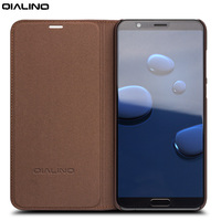 QIALINO Genuine Leather Wallet Flip Case for Huawei Honor V10 Handmade Cover for Huawei honor v10 Luxury Ultra Slim Flip Case
