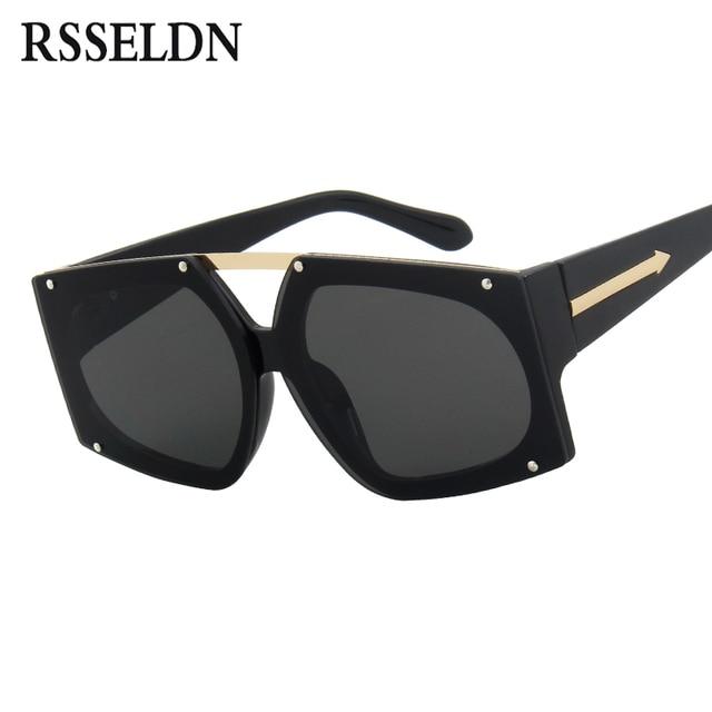 455cc97b79a03 RSSELDN Lente Gradiente de óculos de Lente Dos Óculos De Sol Das Mulheres  Da Marca de