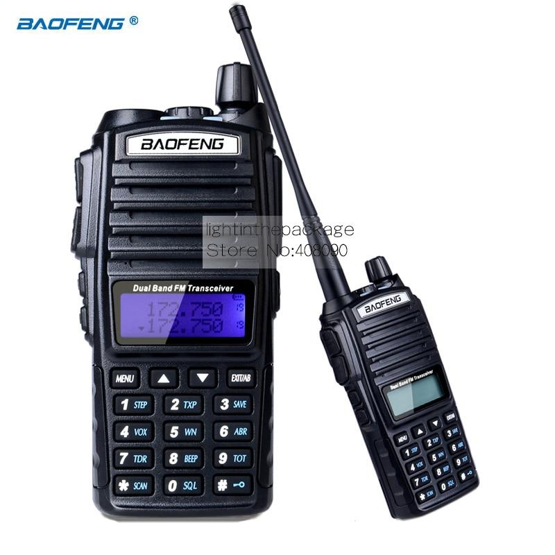 BAOFENG UV 82 VHF UHF Dual Band 136 174 400 520MHz 2 PTT 5W Two Way